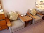 富士屋ホテルの西洋館の92号室のソファ