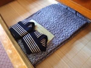 富士屋ホテルの西洋館の92号室の浴衣