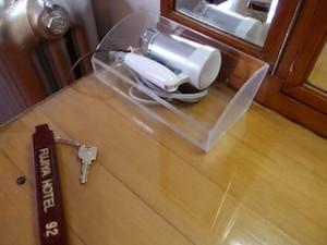 富士屋ホテルの西洋館の92号室の備品(ドライヤー)