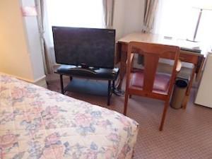 富士屋ホテルの西洋館の92号室のテレビ部分