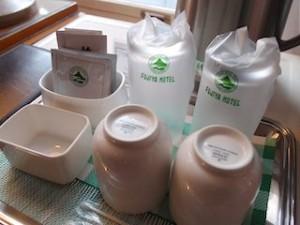 富士屋ホテルの西洋館の92号室の備品(湯飲み)