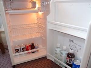 富士屋ホテルの西洋館の92号室の冷蔵庫内