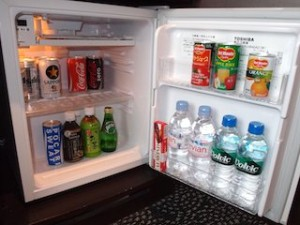 ホテルニューオータニの部屋の冷蔵庫