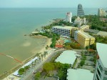 タイパタヤビーチのホリデイインパタヤの部屋からの眺め