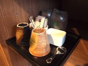 湯本富士屋ホテルの部屋の湯飲み類