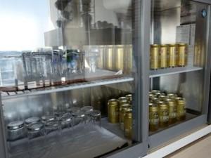 ホテルセトレ神戸・舞子のクラブラウンジ内のビール類