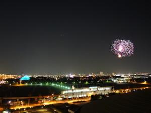 ヒルトン東京ベイ(千葉県浦安市)のセレブリオの部屋のディズニー花火