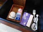 星のや竹富島のベッドルーム内のクローゼットの中備え付け品