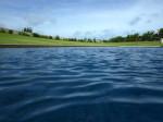 星のや竹富島のプール面からみた周囲