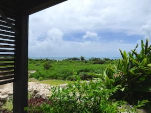 星のや竹富島の見晴台からみた景色