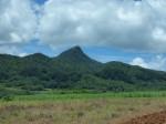 野底側からみた野底マーペー(野底岳)の全景、石垣島