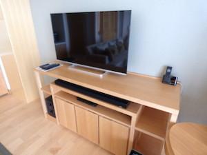 ホテルオリオンモトブリゾート&スパの部屋のテレビ部分
