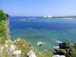 沖縄本島の万座毛からみた景色