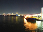 お台場海浜公園の桟橋から見た夜景(The night view from Odaibakaihinkouen, Tokyo)