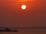 沖縄本島西海岸のサンセット、恩納村(The sunset at Onna-son, Okinawa-ken)