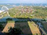 マリーナベイサンズの部屋からみたガーデンズバイザベイ(The view of Gardens by the Bay at the room of Marinabaysands, Singapore)