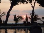 バリ島オベロイホテルの夕景(The sunset view of Oberoi hotel, Bari island Indonesia)