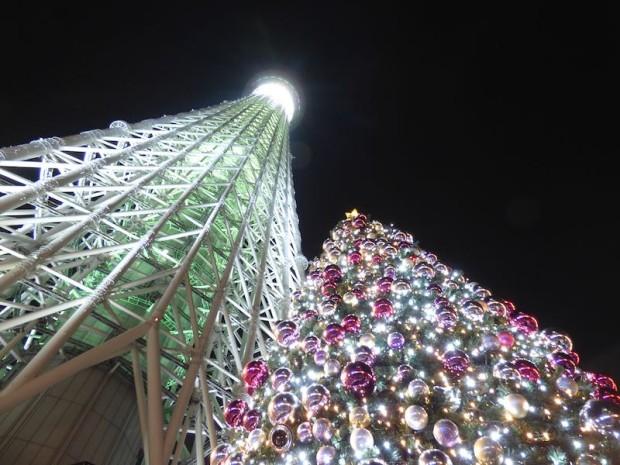東京スカイツリーのイルミネーション(Illuminations of the Tokyo Sky Tree, Tokyo Japan)