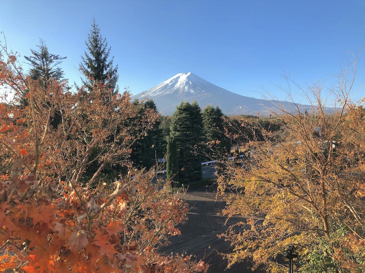 ハイランドリゾートホテル&スパからの富士山