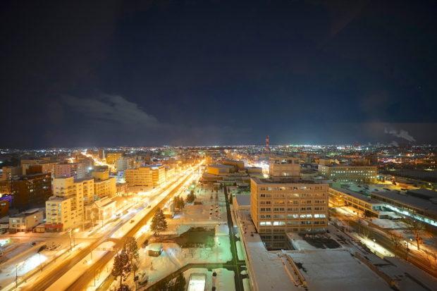 旭川、星野リゾートOMO7からの夜景