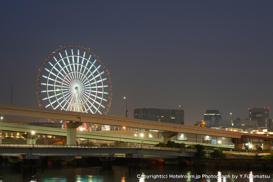 お台場のぞみ橋から南東を望む夜景
