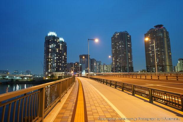 のぞみ橋からみた台場夜景